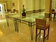 Szklany stół