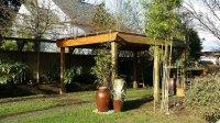 ogród z wiatą
