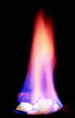 płonący gaz
