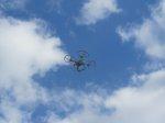 dron filmujący z powietrza
